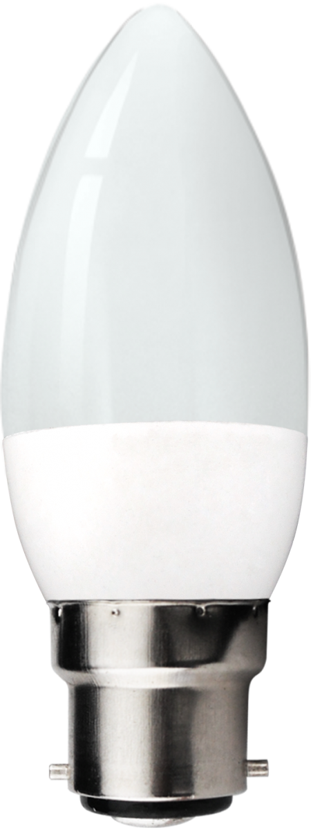 LED 5.5W Dimmable Pearl Candle Bulb - Bayonet -  Warm White
