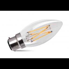 2W LED Filament Candle Bulb - Bayonet