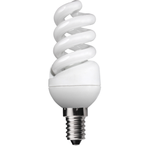 11W Extra Compact Spiral - Small Screw - Warm White