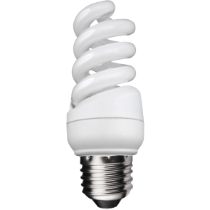7W Extra Compact Spiral - Screw - Warm White