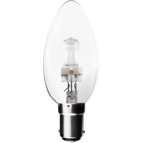 18W Energy Saving Halogen Candle Bulb - Small Bayonet