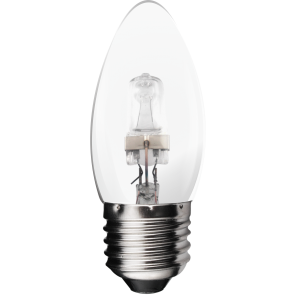 18W Energy Saving Halogen Candle Bulb - Screw