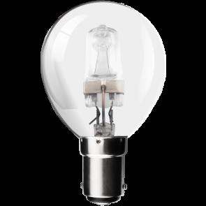 28W Energy Saving Halogen Golf Ball Bulb - Small Bayonet