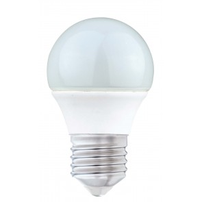 LED 5.5W Opal Golf Ball Bulb - Screw - Warm White