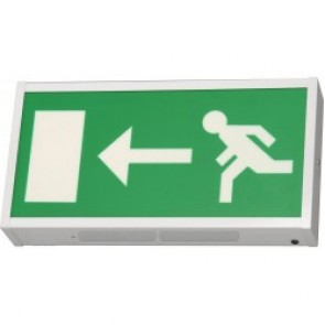 3W IP20 Economical single sided LED exit sign in white sheet steel